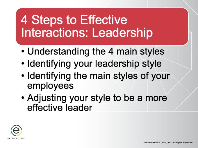 4 Steps to Effective Interactions Leadership