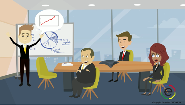 Animated I-style overselling in meeting