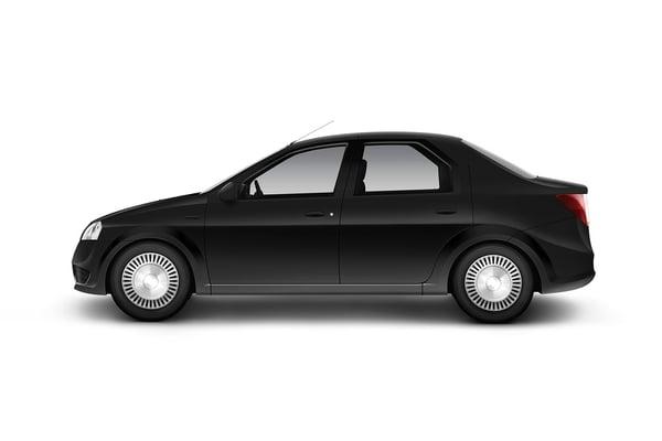 BS Black sedan car