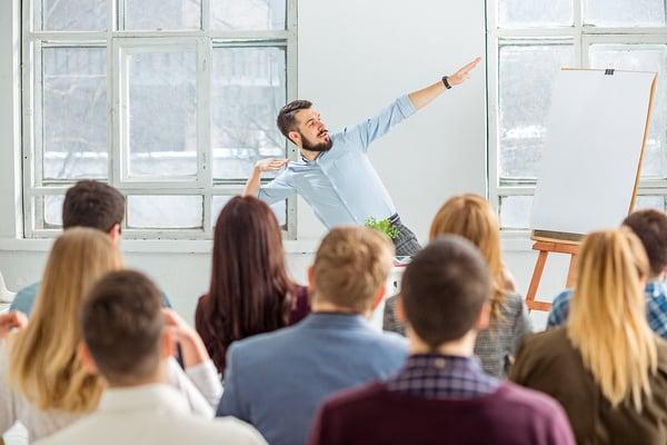 Man facilitating a Workshop training