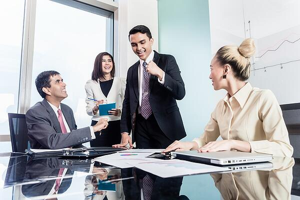 Group negotiation in conference room