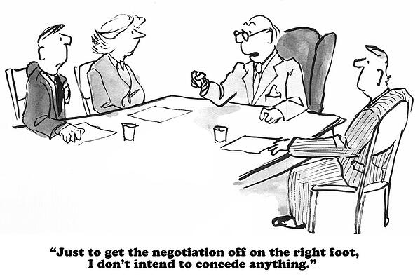 Not Conceding Negotiation Comic