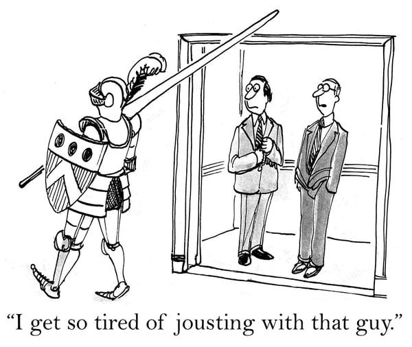 Conflict-Management Jousting comic