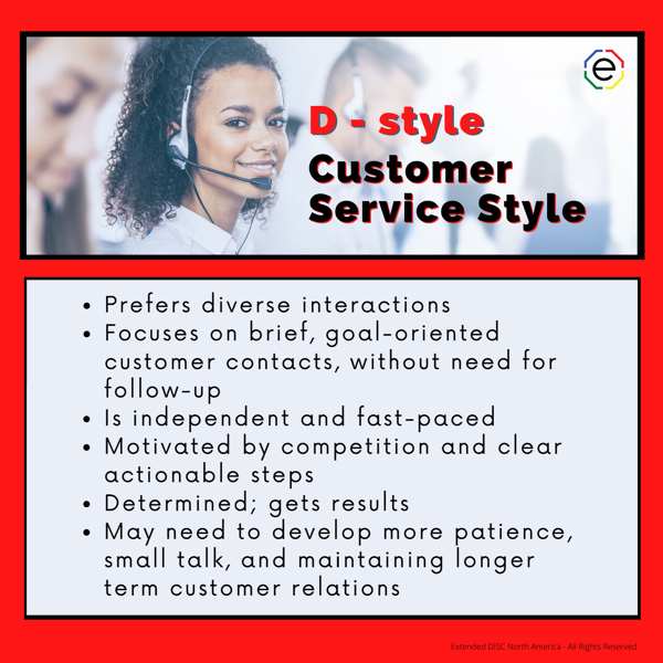 D-style Customer Service Styles