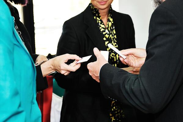 Exchanging Business-Cards