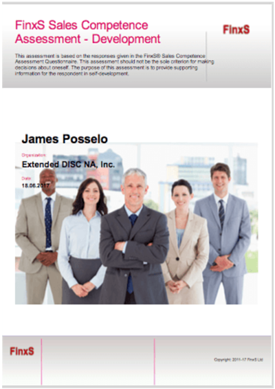 FinxS Sales Competence Assessment
