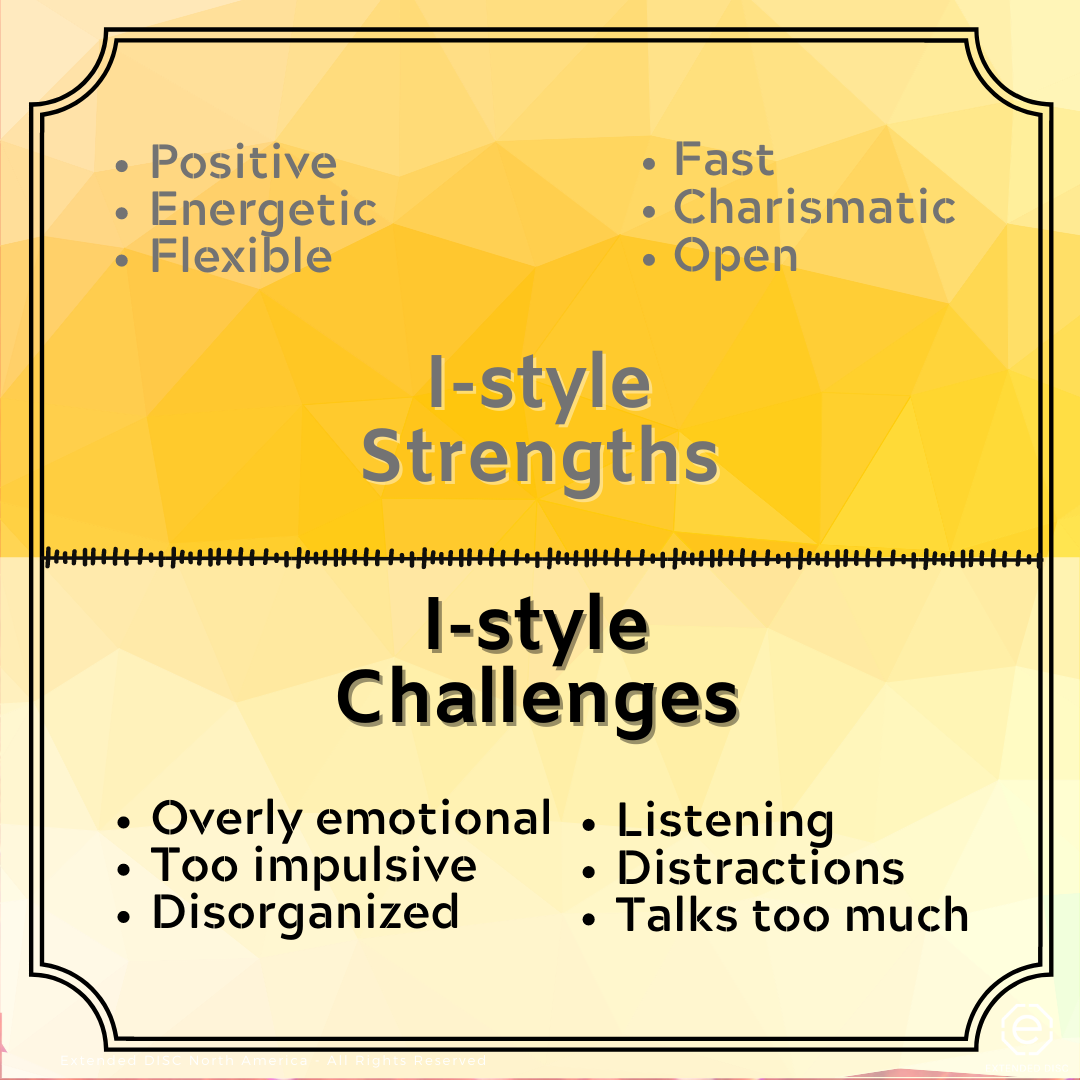 I-style behavioral  strengths and challenges