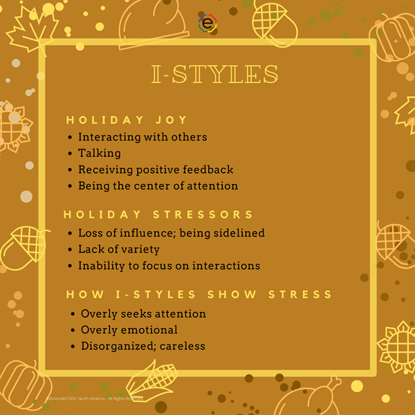 I-styles Holiday Joys and Stressors