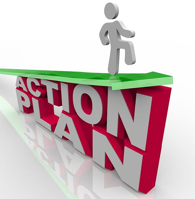 Behavioral Action Plan Man on Arrow