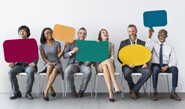 People holding Employee Feedback Survey Icons