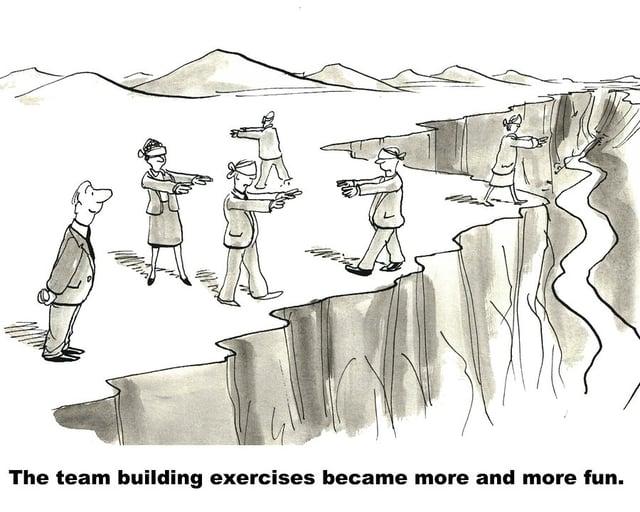 Team Building Exercises Comic