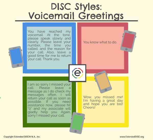 DISC Styles and Voicemail Greetings