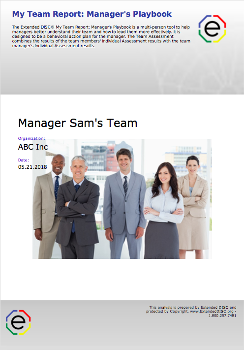 My Team Report Managers Playbook Cover