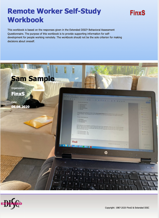 Remote Worker Self-Study Workbook cover page