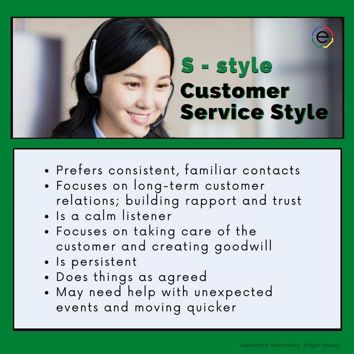 S-style Customer Service Styles