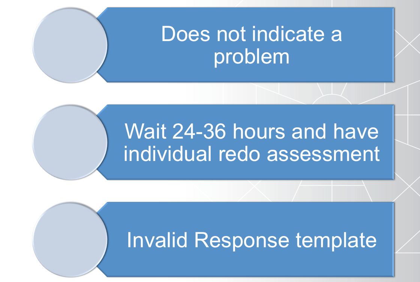 Steps for delivering Extended DISC invalid results