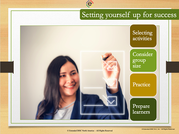 Setting Yourself Up for Success Tips for engaging participants virtual in DISC Sessions