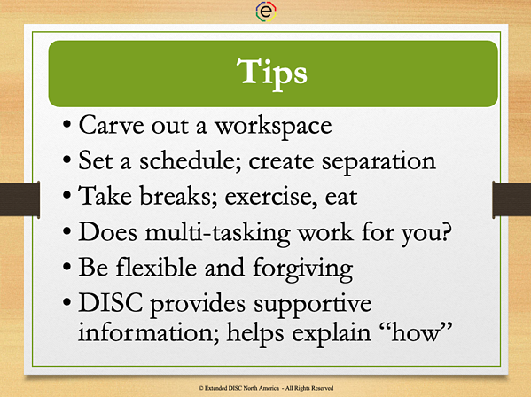 Tips for balancing working from home slide