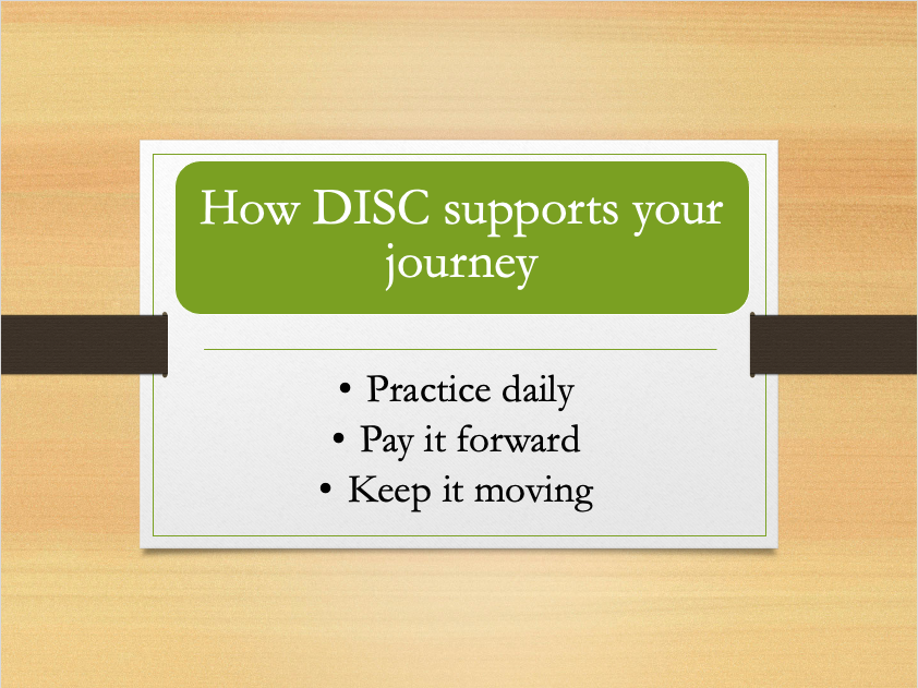How DISC Supports your journey - compassion slide
