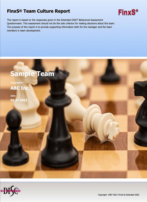 FinxS Team Culture Report Cover Screenshot