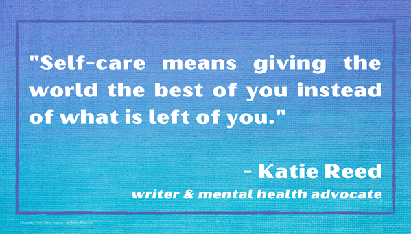 Self-care Katie Reed Quote Infographic