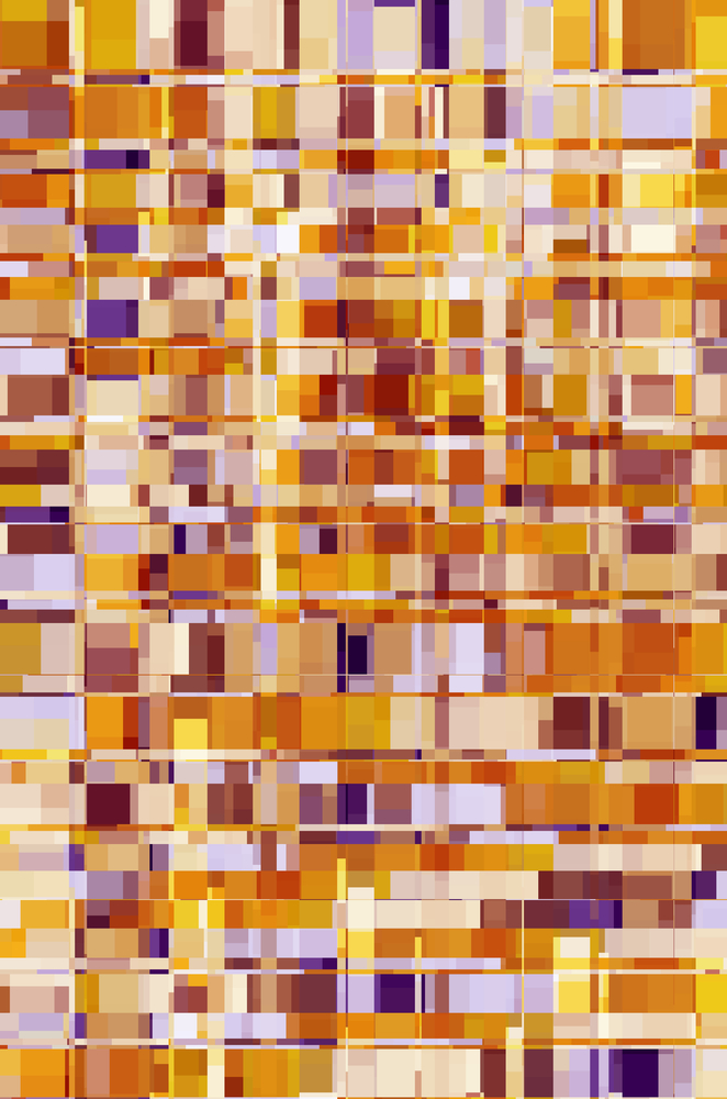 Kaleidoscopic multicolored mosaic abstract of squares and rectangles that contain squares and rectangles, for decoration and backgrounds with motifs of complexity, diversity, multiplicity
