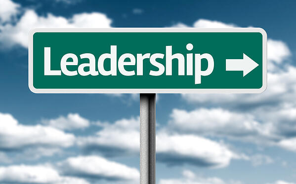 Leadership creative green sign