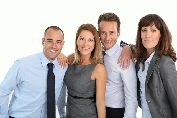 Sales team of 4, 2 women and 2 men