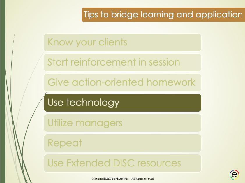 Use Technology Tips Slide
