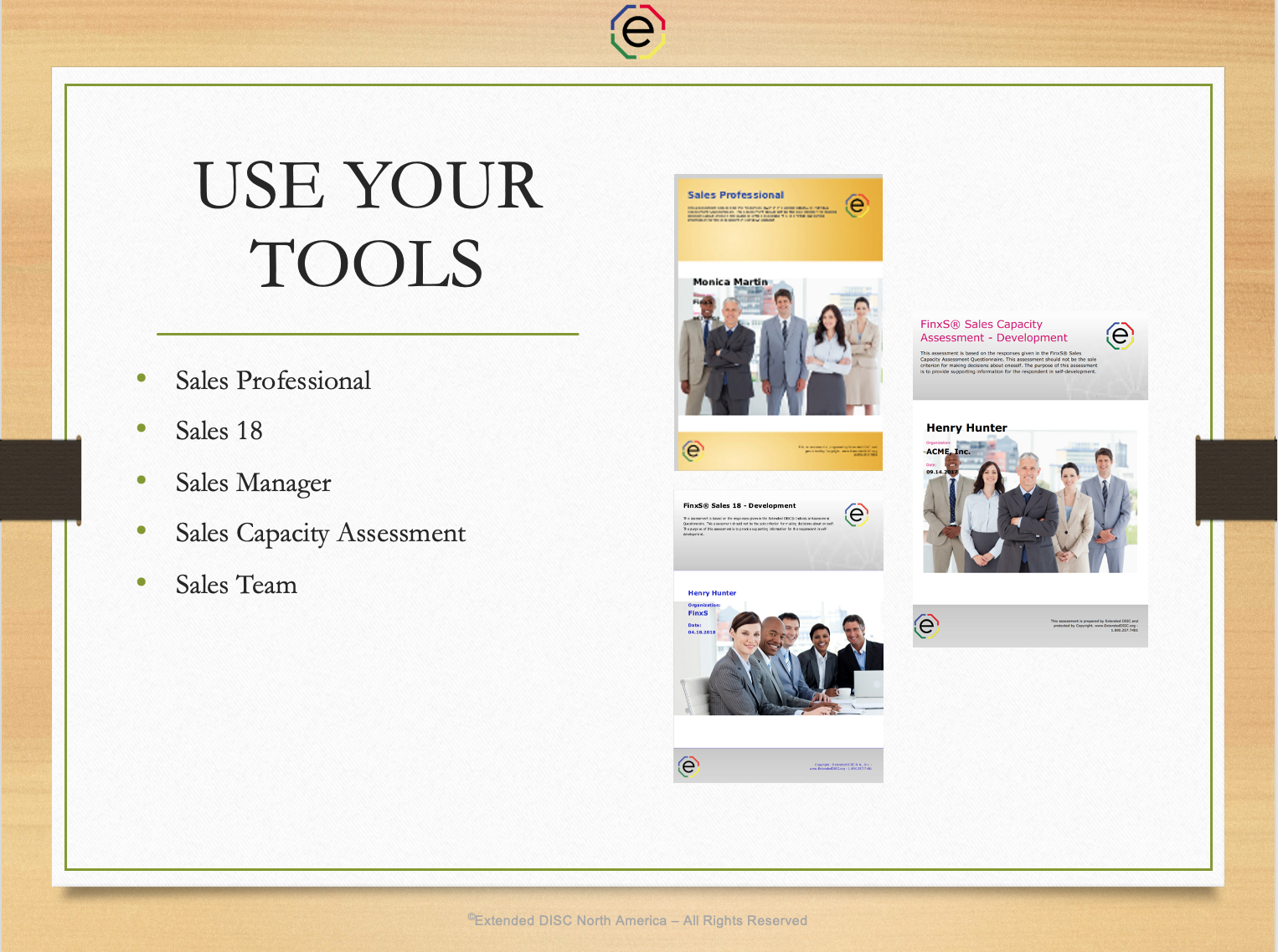 Use Your Tools in Sales DISC Sessions Webinar Slide