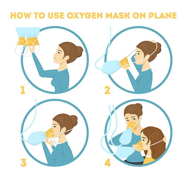 How-To-Use-Oxygen-Mask infographic