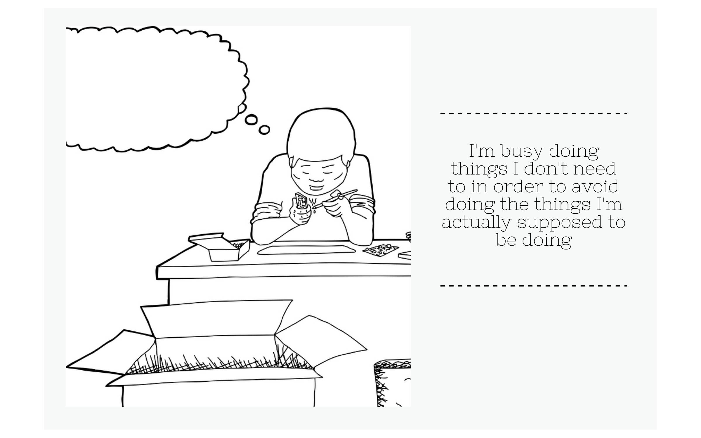 Avoiding tasks procrastination comic