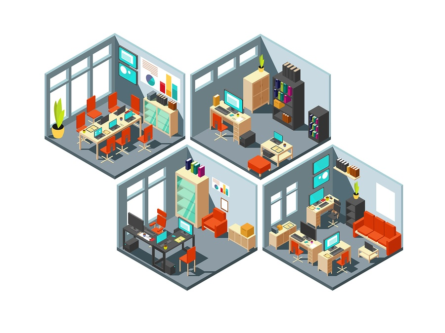 BS 4 office spaces illustration