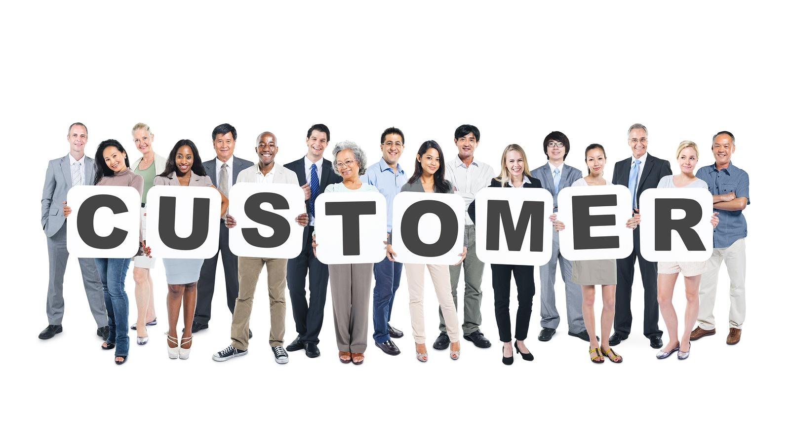 BS MED Customer Words held by group of people