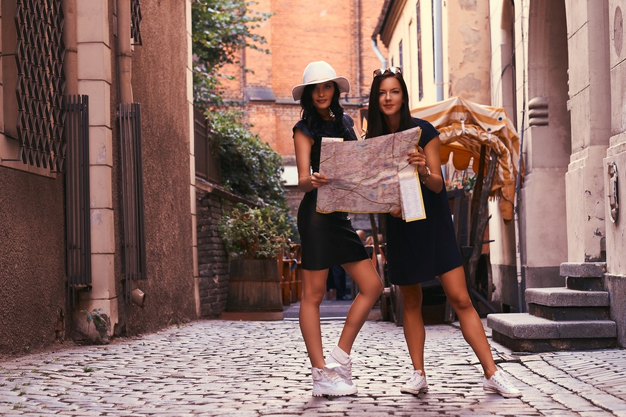 BS-Two-Female-Tourists-with Map