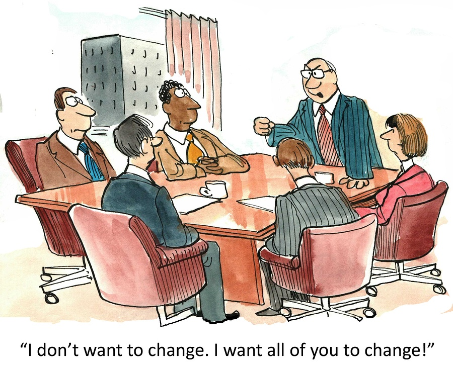 Leadership comic about changing