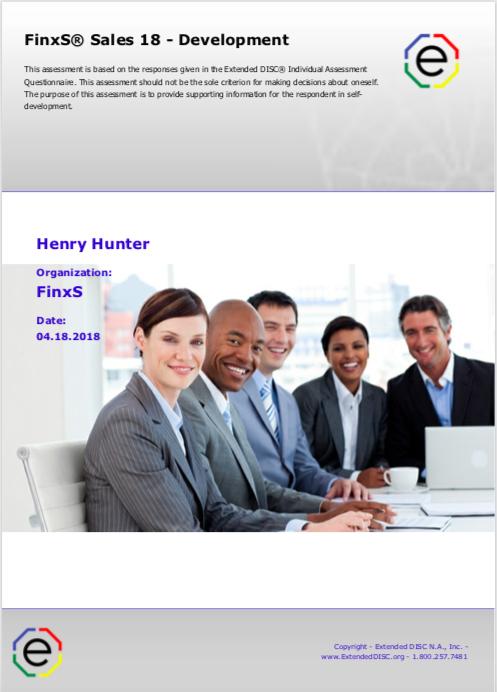 FinxS Sales 18 Development Cover